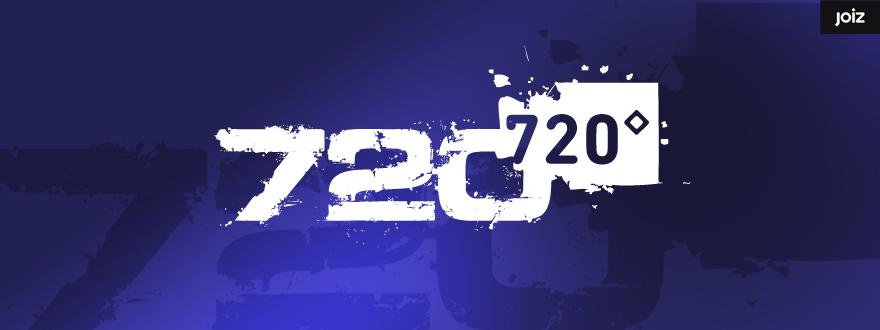 """Von okamo aus Berlin gestaltetes Format-Logo-Design der Fernsehshow """"720°"""" des Schweizer Web- und Fernsehsenders JOIZ"""