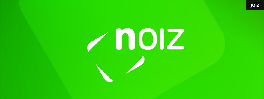 """Von okamo aus Berlin gestaltetes Format-Logo-Design der Fernsehshow """"NOIZ"""" des Schweizer Web- und Fernsehsenders JOIZ"""