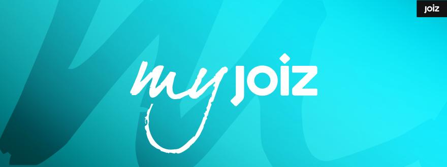 """Von okamo aus Berlin gestaltetes Format-Logo-Design der Fernsehshow """"My JOIZ"""" des Schweizer Web- und Fernsehsenders JOIZ"""