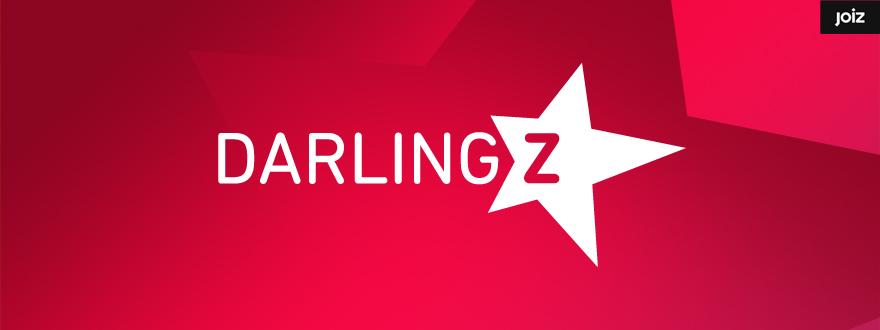 """Von okamo aus Berlin gestaltetes Format-Logo-Design der Fernsehshow """"Darlingz"""" des Schweizer Web- und Fernsehsenders JOIZ"""