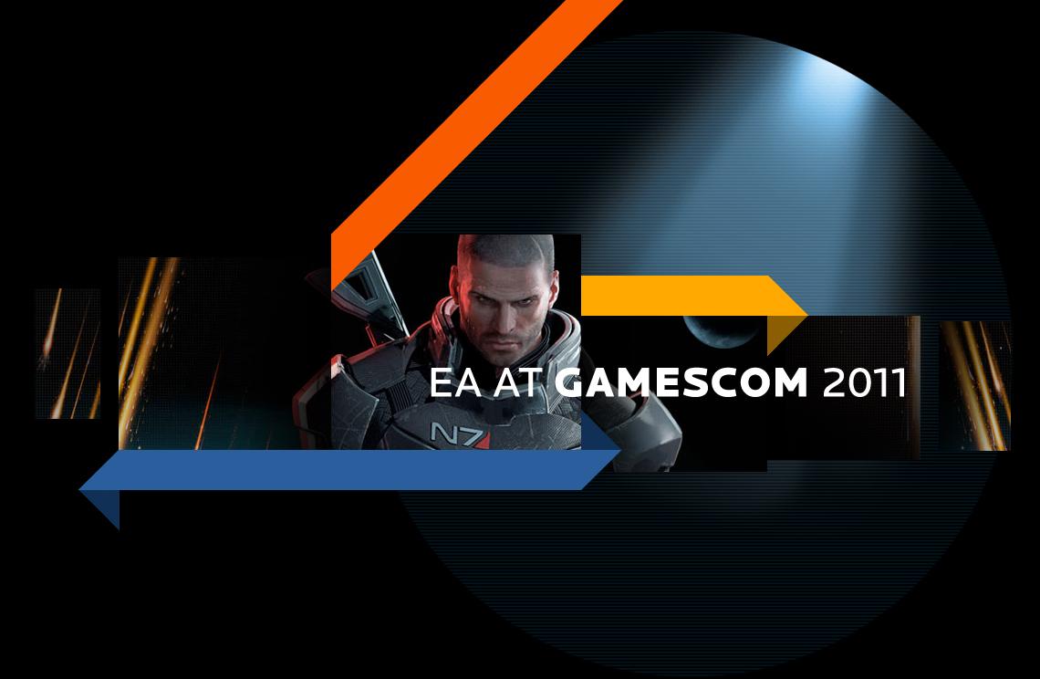 Webdesign und standardkonformes Frontend-Coding des Messewebauftritts von EA auf der gamescom 2011 in zwei Gestaltungsvarianten für fünf Länder