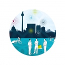 """Printdesign · MittendrIn Berlin! Wettbewerb 2014/15 � Design und Entwicklung des visuellen Konzepts zum Motto des Wettbewerbs 2014/15 """"Standort Zukunft"""" von """"MittendrIn Berlin! Die Zentren-Initiative"""""""