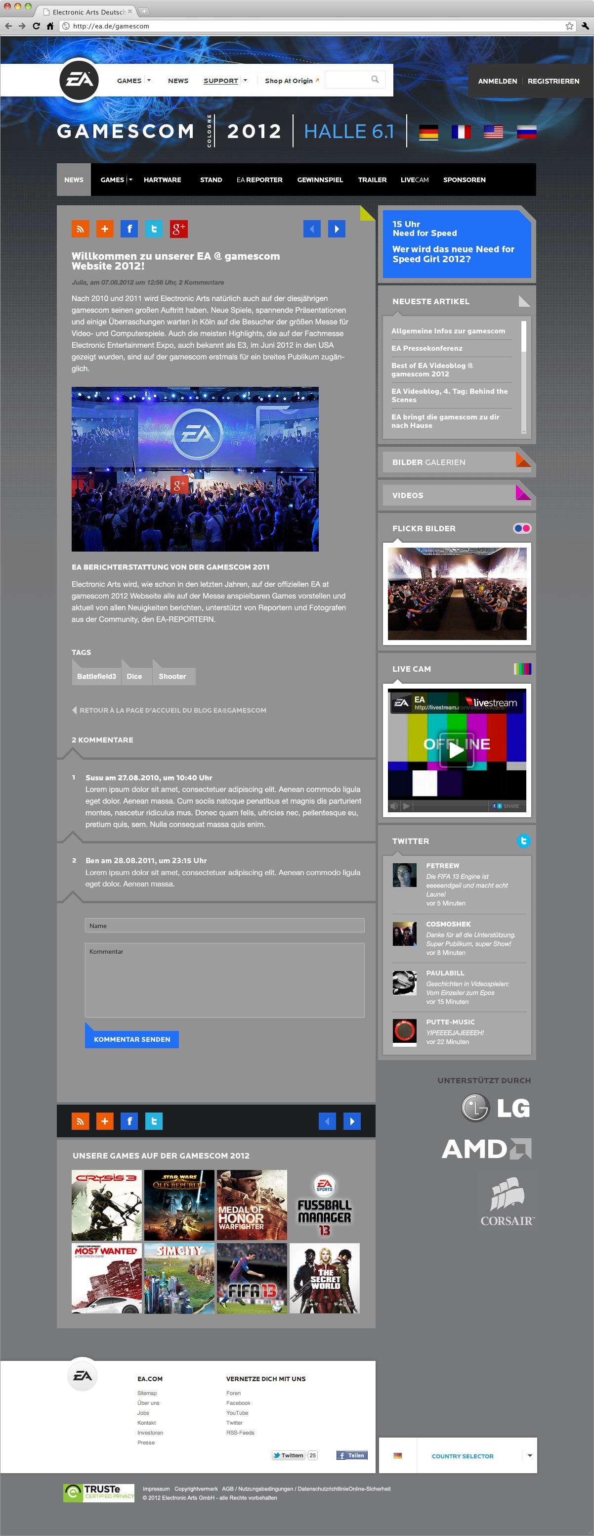 Webdesign-artikelseite-ea-electronic-arts-at-gamescom-2012-cologne