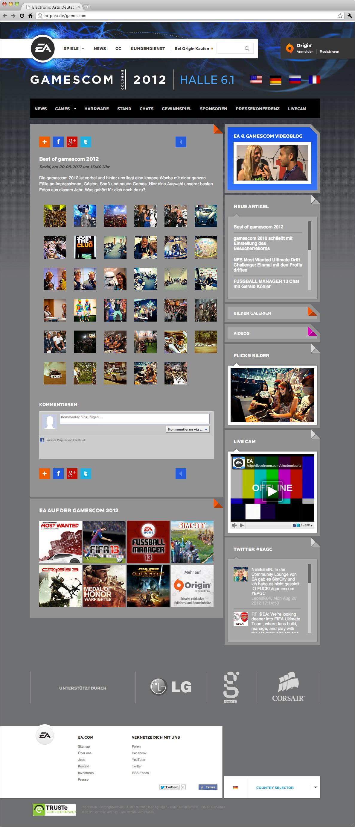 Webdesign-bildergalerie-ea-electronic-arts-at-gamescom-2012-cologne